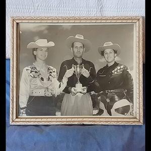 Other - Vintage Western B&W Photo w/Frame